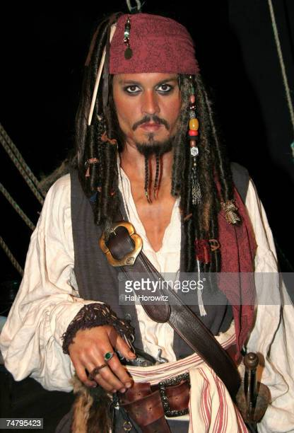 Wax sculpture of Johnny Depp as Captain Jack Sparrow at the Madam Tassauds in New York City New York