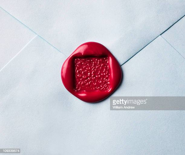 Wax seal on envelope