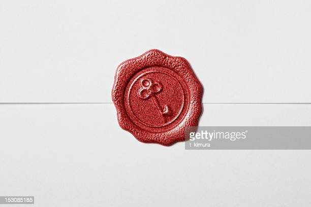 wax seal - seal stock pictures, royalty-free photos & images