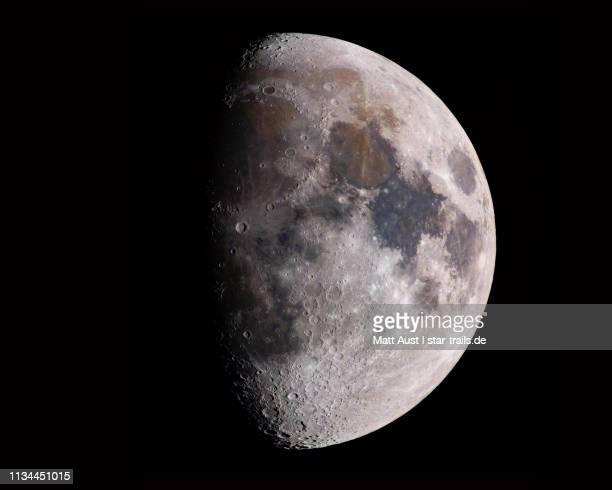 waxing moon - moon stock pictures, royalty-free photos & images