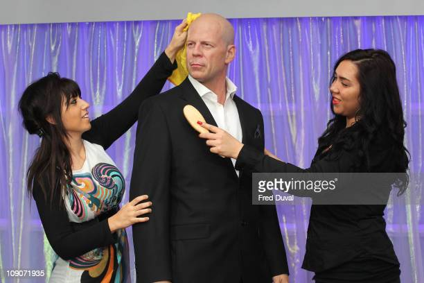 A waxwork figure of Bruce Willis is unveiled at Madame Tussauds on February 14 2011 in London England