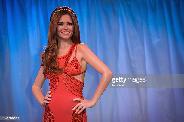 A waxwork figure of Cheryl Cole is unveiled at Madame Tussauds on October 20 2010 in London England