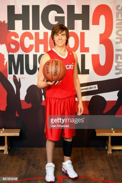 A waxwork figure of High School Musical star Zac Efron as it is unveiled at Madame Tussauds on October 9 2008 in London England