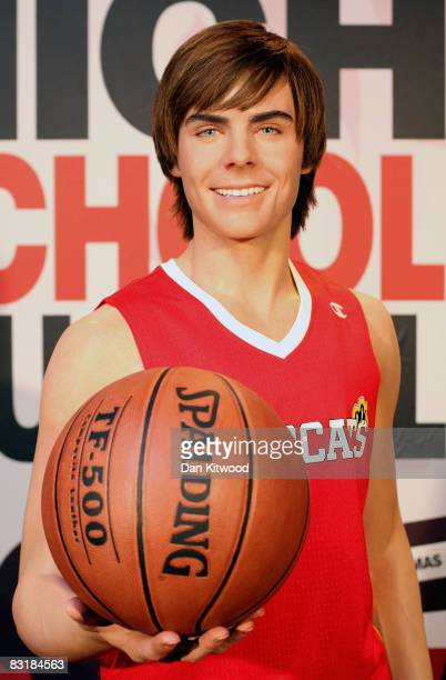 Waxwork figure of High School Musical star Zac Efron as it is unveiled at Madame Tussauds on October 9, 2008 in London, England.