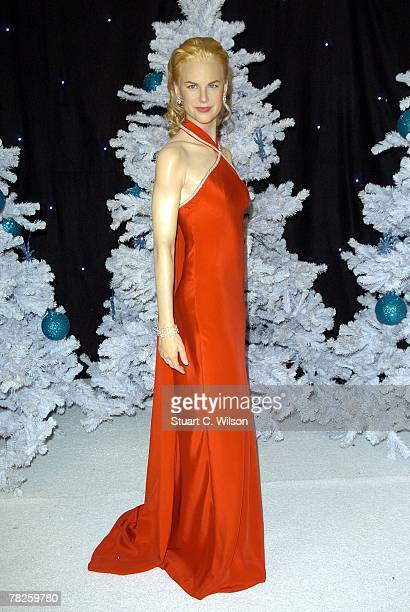 A waxwork figure of Nicole Kidman dressed as a 'Snow Queen' is unveiled as part of the 'Winter Wonderland' at Madame Tussauds on December 05 2007 in...