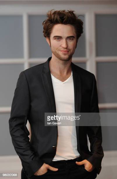 A waxwork figure of Robert Pattinson is unveiled at Madame Tussauds on March 25 2010 in London England