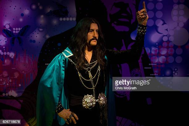 A waxwork figure of Turkish singer Baris Manco is seen on display at Turkey's first Madame Tussauds Wax Museum on November 30 2016 in Istanbul Turkey...