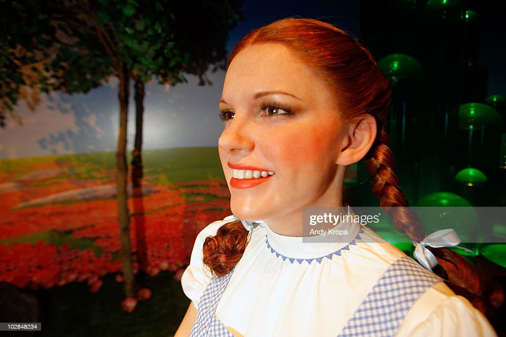 A waxwork Judy Garland as Dorothy inside 'The Wizard of Oz' 4-D experience at Madame Tussauds on July 13, 2010 in New York City.