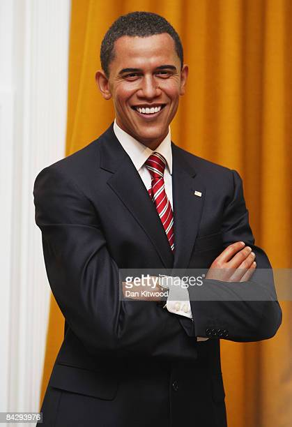 A waxwork model of Barack Obama the Presidentelect of the United States of America is unveiled at Madame Tussauds on January 15 2009 in London England