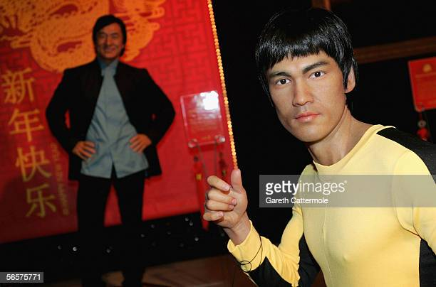 A waxwork model of Bruce Lee forms part of a temporary attraction starring eight of Chinas top celebrities in celebration of Chinese New Year at...