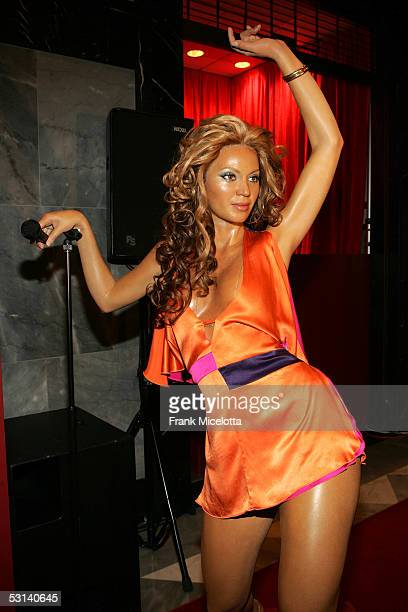 A waxwork model of singer Beyonce on display at the Beyonce Beyond the Red Carpet auction presented by Beyonce and her mother Tina Knowles along with...