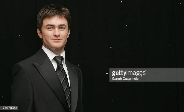 A waxwork of actor Daniel Radcliffe is unveiled at Madame Tussauds on July 2 2007 in London England The actor is famous for playing the character...