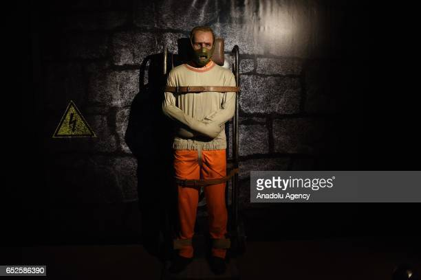Waxwork of Anthony Hopkins' movie character Hannibal on display at Dreamland Wax Museum in Rio de Janeiro Brazil on March 11 2017