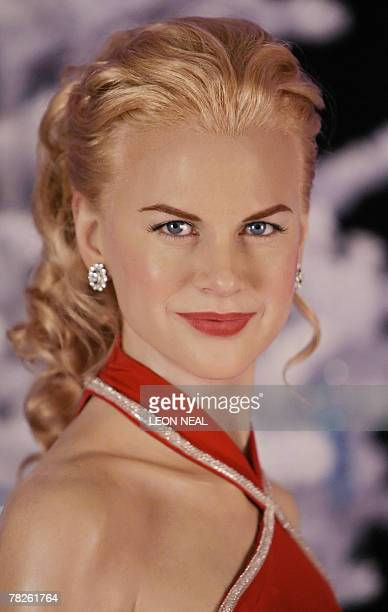 A waxwork of Australian actress Nicole Kidman is unveiled at Madame Tussauds Museum in central London 05 December 2007 AFP PHOTO/Leon Neal