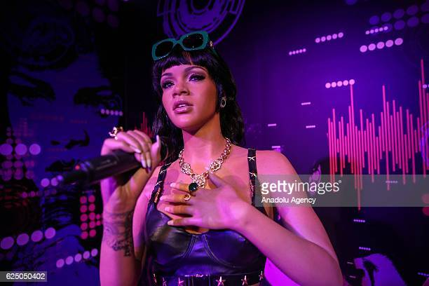 Waxwork of Barbadian singer Rihanna on display at the world's 21st and Turkey's first Madame Tussauds wax museum which will be opened on November 28...