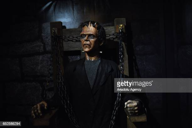 Waxwork of horror movie character Frankenstein on display at Dreamland Wax Museum in Rio de Janeiro Brazil on March 11 2017