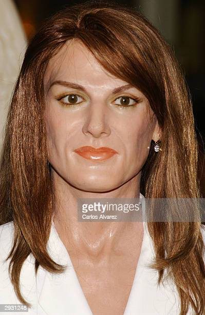 A waxwork of Letizia Ortiz is inaugurated into the Wax Museum on February 5 2004 in Madrid Spain
