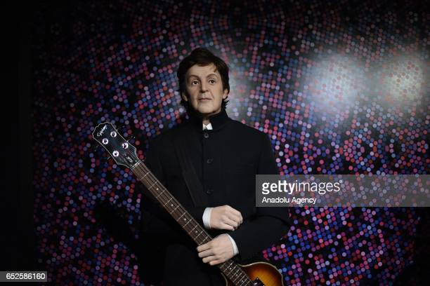 Waxwork of singer Paul McCartney on display at Dreamland Wax Museum in Rio de Janeiro Brazil on March 11 2017
