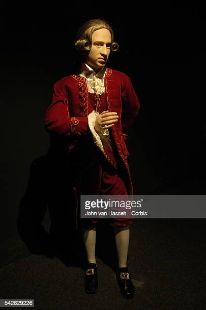 Waxwork of Wolfgang Amadeus Mozart at the Salzburg Wax Museum