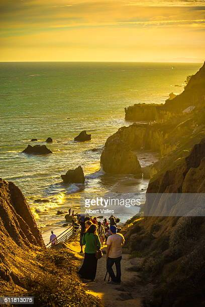 way down to the beach - malibu beach stock pictures, royalty-free photos & images