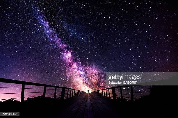 way of love - milky way stock pictures, royalty-free photos & images