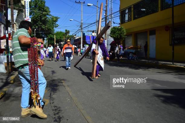 Way of the Cross on Good Friday in Iztapalapa Mexico