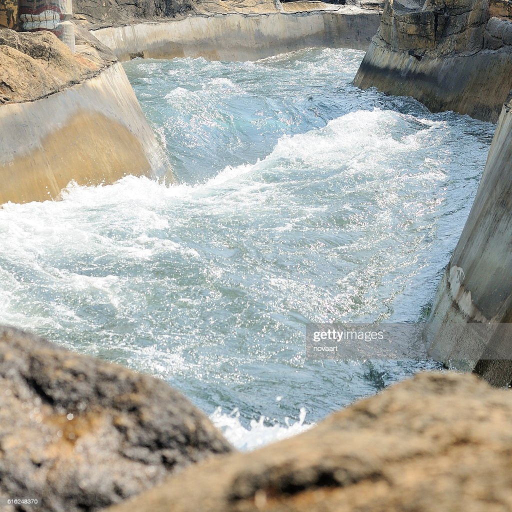 Way of water following from river : Stock Photo