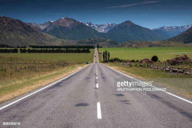 Way on Arthur'pass in summer time , canterbury , new zealand