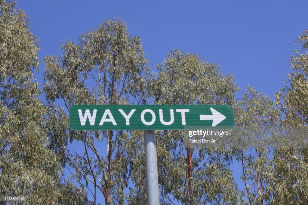 Way out sign : Stock Photo