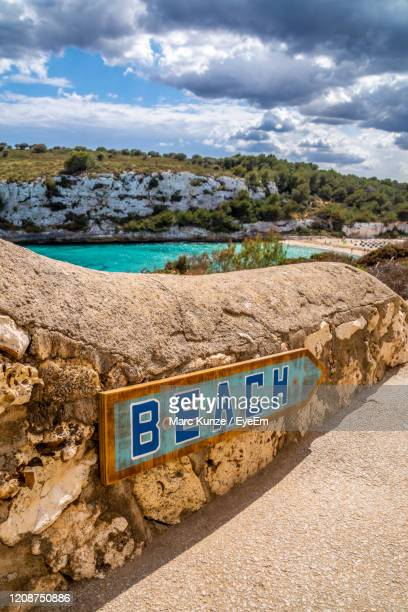 way to the beach mallorca - manacor stock pictures, royalty-free photos & images