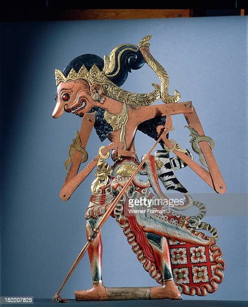 Wayang kulit shadow puppet used in popular all night performances usually based on ancient Hindu epics such as the Ramayana Indonesia Javanese c 1900...