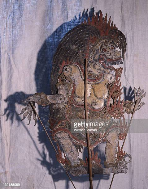 Wayang shadow puppet of Rangda Queen of witches used in popular all night performances usually based on ancient Hindu epics such as the Ramayana...