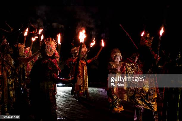 Wayang Wong troupe from Tejakula perform in Mas they are part of special project to preserve this increasingly rare Balinese performance art form