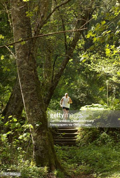 Wayburn263_mac.jpg William BUrke a visitor from Ireland enjoys the wonderful scenery along the Dipsea Trail that runs from Mill Valley to Stinson...