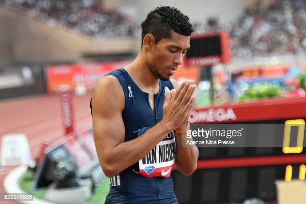 Wayde Van Niekerk of South Africa men's 400m during the IAAF Diamond League Meeting Herculis on July 21 2017 in Monaco Monaco