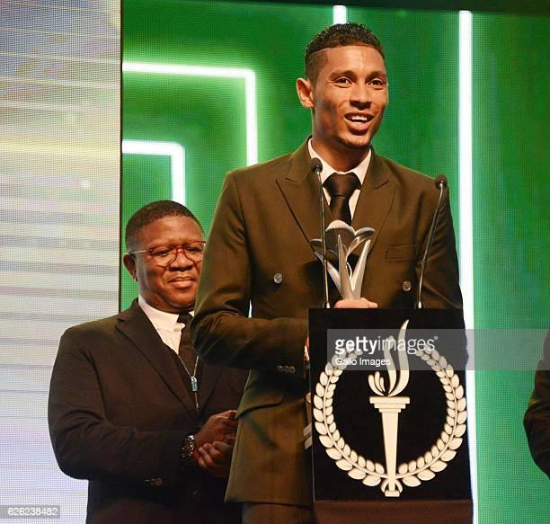 AFRICA Wayde van Niekerk receives his award during the SA Sports Awards on November 27 2016 in Bloemfontein South Africa The 2016 SA Sport Awards...