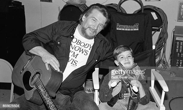 Waylon Jennings and Shooter Jennings make a video together May 4 1993 NashvilleTennessee