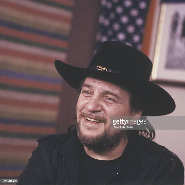 Waylon Jennings at the Country Music Festival held at Wembley Arena London in April 1981