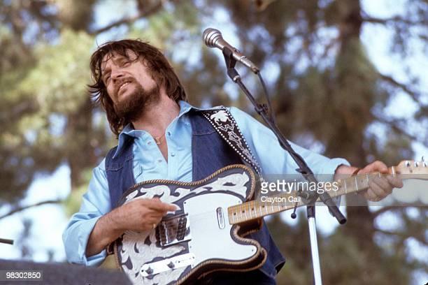 Waylon Jennings perfoming at Spartan Stadium in San Jose in 1982 He plays a Fender Telecaster guitar