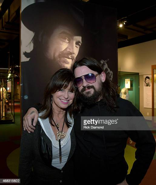 Waylon Jennings Wife Son Singers/Songwriters Jesse Colter and Shooter Jennings visit the Country Music Hall of Fame and Museum before performing at...