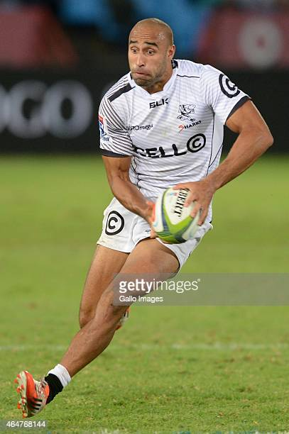 Waylon Murray of the Sharks during the Super Rugby match between Vodacom Bulls and Cell C Sharks at Loftus Versfeld on February 28 2015 in Pretoria...