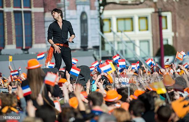 Waylon performs on stage at Museumplien during the inauguration of King Willem Alexander of the Netherlands as Queen Beatrix of the Netherlands...