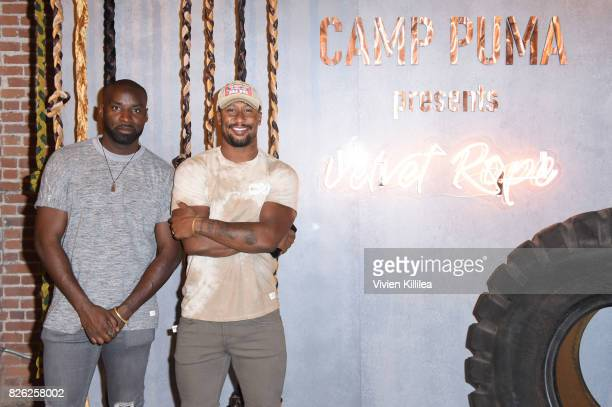 Wayman Bannerman and Jarret Janako attend PUMA Hosts CAMP PUMA To Launch Their Newest Women's Collection Velvet Rope at Goya Studios on August 3 2017...