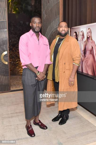 Wayman Bannerman and Micah McDonald attend The Hollywood Reporter and Jimmy Choo Power Stylists Dinner on March 20 2018 in Los Angeles California