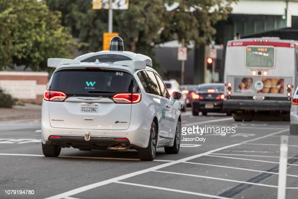 waymo on the streets of san francisco - autonomous technology stock pictures, royalty-free photos & images