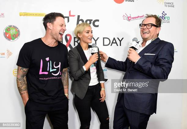 Wayne and Frankie Bridge representing The Lily Foundation with Alan Carr at BGC Charity Day on September 11 2017 in Canary Wharf London United Kingdom