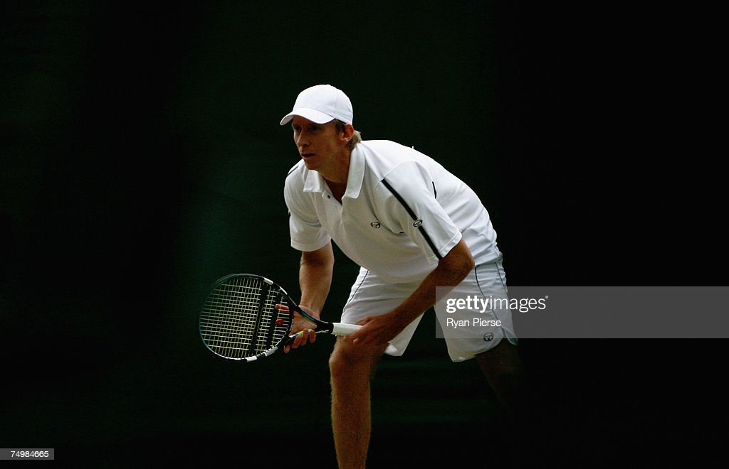 Wayne Arthurs of Australia looks on during the Men's Singles third round match against Jonas Bjorkman of Sweden during day seven of the Wimbledon Lawn Tennis Championships at the All England Lawn Tennis and Croquet Club on July 2, 2007 in London, England.