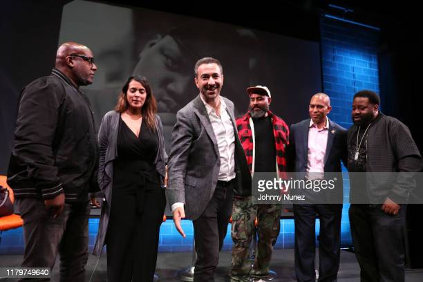 Wayne Barrow Kimberly Osorio Ari Melber Ebro Darden Congressman Hakeem Jeffries and Lord Finesse attend Things Done Changed Celebrating The 25th...