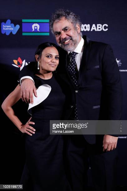 Wayne Blair and Miranda Tapsell attend the 25th Anniversary of Screen Australia's Indigenous Department at Carriageworks on August 30 2018 in Sydney...