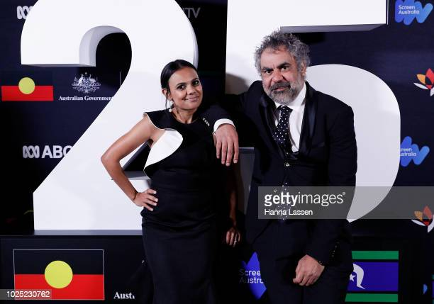 Wayne Blair and Miranda Tapsell attend the 25th Anniversary of Screen Australia's Indigenous Department at Carriageworks on August 30, 2018 in...